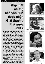 Gặp những nhà văn Huế được nhận Giải thưởng Nhà nước 2012