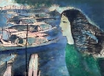 Cô Gái Huế với Tranh Thiếu Nữ của họa sĩ Đinh Cường