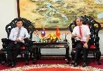 Bí thư Tỉnh ủy Lê Trường Lưu tiếp Bí thư, Tỉnh trưởng tỉnh Savannakhet