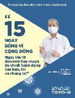 """Chủ tịch UBND tỉnh Phan Ngọc Thọ truyền thông điệp """"15 ngày sống vì xã hội, tốt cho bản thân, tốt cho cộng đồng""""."""