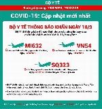 Bộ Y tế ra thông báo khẩn về các chuyến bay có hành khách mắc COVID-19