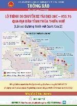 Lộ trình di chuyển xe tải BKS 28C-055.76 qua địa bàn tỉnh Thừa Thiên Huế