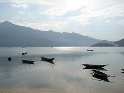 Phá Tam Giang nhìn từ đầm chim Quảng Thái