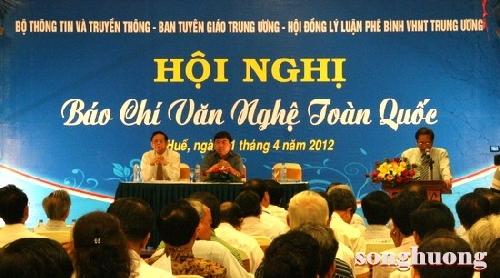 Hội nghị Báo chí văn nghệ toàn quốc năm 2012