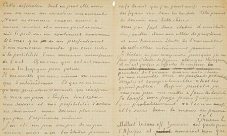 Bức thư viết chung của Van Gogh và Gauguin