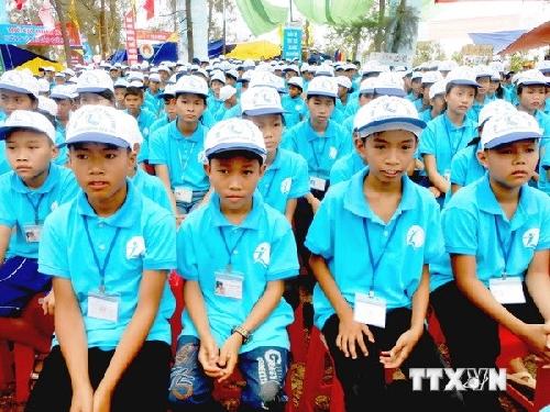Gần 200 thiếu nhi Việt-Lào-Campuchia dự giao lưu đặc biệt