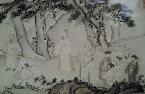 Phiên bản sơn mài của bức Trúc Lâm Đại sĩ xuất sơn đồ