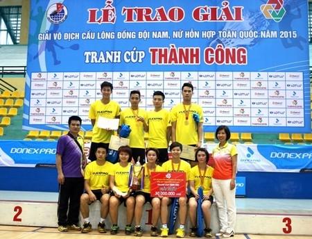 Bế mạc Giải Vô địch Cầu lông đồng đội nam, nữ hỗn hợp toàn quốc năm 2015