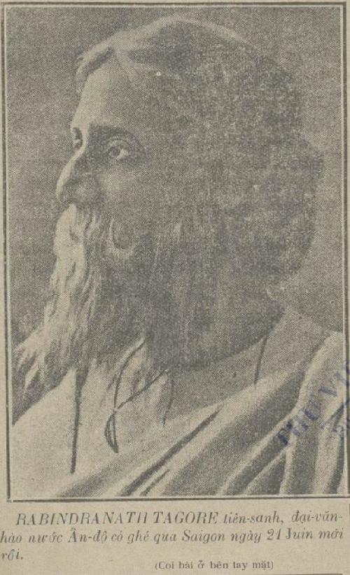 Về sự kiện Thi hào Rabindranath Tagore thăm Sài gòn, Việt Nam