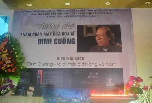 Văn nghệ sĩ TT- Huế tưởng niệm 1 năm ngày mất Cố họa sĩ Đinh Cường (7/1/2016- 7/1/2017)