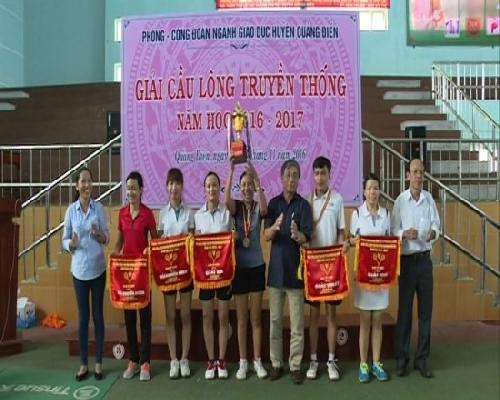 Quảng Điền: Tổ chức giải cầu lông truyền thống ngành giáo dục năm 2016