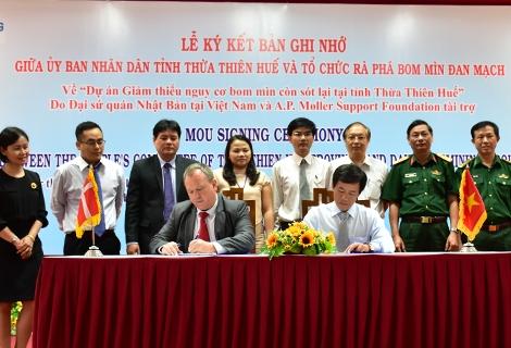 """1,2 triệu USD thực hiện dự án """"Giảm thiểu nguy cơ bom mìn còn sót lại tại tỉnh Thừa Thiên Huế"""""""