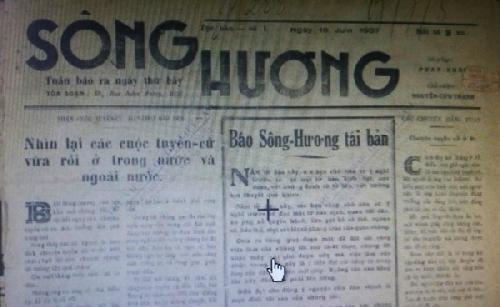 Sông Hương tục bản và cuộc đấu tranh nghị trường