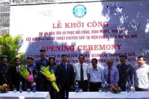 Bảo tồn, phục hồi cổng, bình phong, non bộ kết hợp đào tạo kỹ thuật tại điện Phụng Tiên, Đại nội Huế