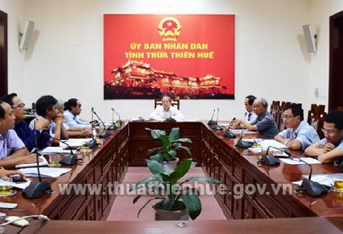 Chủ tịch UBND tỉnh Phan Ngọc Thọ làm việc với Liên hiệp các hội VHNT tỉnh