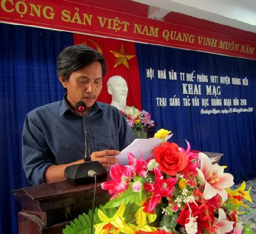 Khai mạc trại sáng tác văn học Quảng Ngạn
