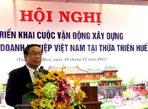 Hội nghị triển khai cuộc vận động xây dựng văn hóa doanh nghiệp tại tỉnh Thừa Thiên Huế