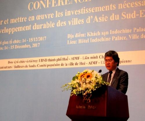 """Hội nghị chuyên đề """" Tài trợ và triển khai các dự án phát triển bền vững cho các đô thị Đông Nam Á""""."""