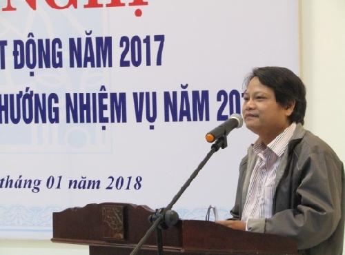 Hội Nhà văn Thừa Thiên Huế tổ chức Hội nghị  tổng kết hoạt động năm 2017 và triển khai phương hướng hoạt động năm 2018