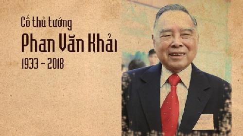 Tổ chức Nghi thức Quốc tang cho Nguyên Thủ tướng Phan Văn Khải
