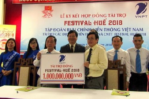 VNPT tài trợ viễn thông và công nghệ thông tin cho Festival Huế 2018