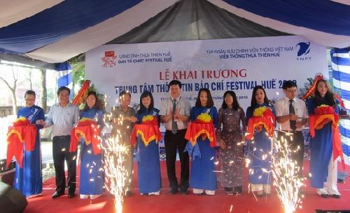Khai trương Trung tâm thông tin báo chí Festival Huế 2018