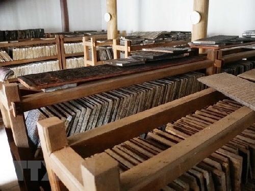 Bộ Mộc bản kinh Phật chùa Bổ Đà nhận danh hiệu bảo vật quốc gia