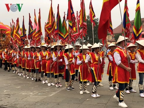 Lễ rước kiệu về Đền Hùng của các xã, phường, thị trấn vùng ven di tích
