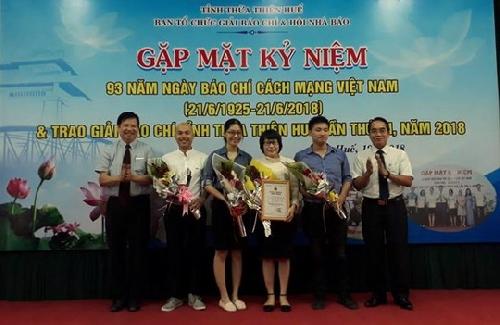 19 tác giả, nhóm tác giải đạt Giải báo chí tỉnh Thừa Thiên Huế lần thứ XI