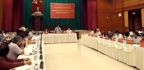 """Hội nghị """"Định hướng các loại hình dịch vụ, du lịch trên địa bàn thành phố Huế""""."""