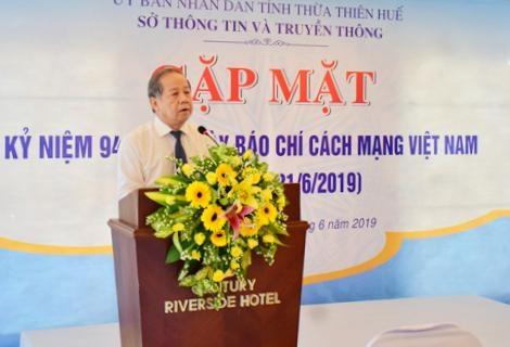 Phát huy tác phẩm chất lượng cao của báo chí tỉnh Thừa Thiên Huế