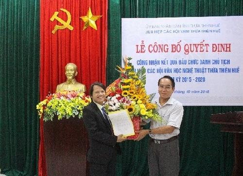 Lễ công bố quyết định công nhận kết quả bầu chức danh Chủ tịch Liên hiệp các Hội VHNT nhiệm kỳ 2015 – 2020