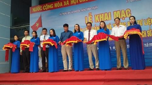 Triển lãm bản đồ và trưng bày tư liệu về Hoàng Sa, Trường Sa tại Bình Thuận