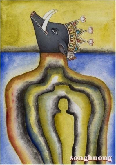 Người và ngợm trong tranh của Francesco Clemente