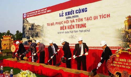 Khởi công Dự án tu bổ, phục hồi và tôn tạo di tích điện Kiến Trung