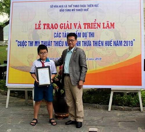 Trao giải  các tác phẩm tham gia cuộc thi Mỹ thuật thiếu nhi tỉnh Thừa Thiên Huế năm 2019