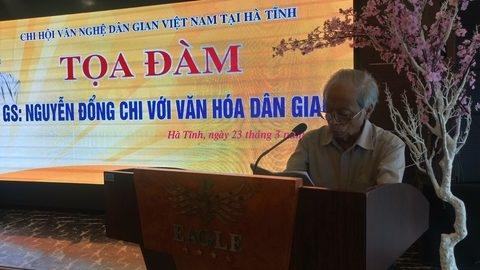 Học giả Nguyễn Đổng Chi với văn hóa dân gian