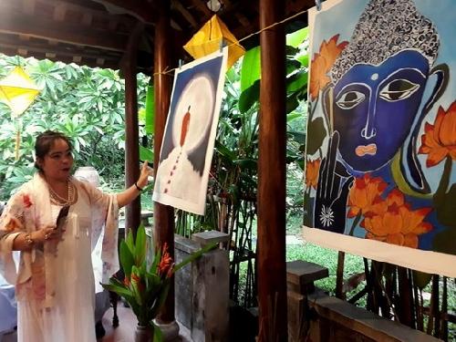 Triển lãm Vẽ Phật của họa sĩ Summi Matzke