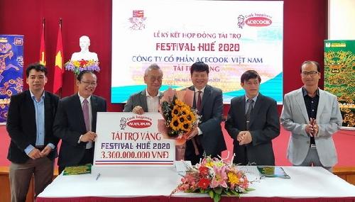 Công ty Cổ phần Acecook Việt Nam tài trợ Vàng cho Festival Huế 2020