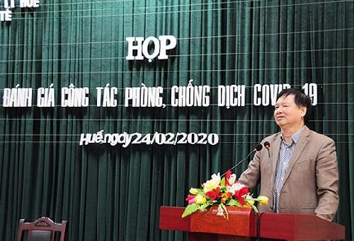 Phó chủ tịch UBND tỉnh Nguyễn Dung chủ trì họp đánh giá công tác phòng chống dịch Covid-19 trên địa bàn tỉnh