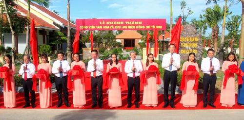 Khánh thành Công viên văn hóa và Khu lưu niệm đồng chí Tố Hữu