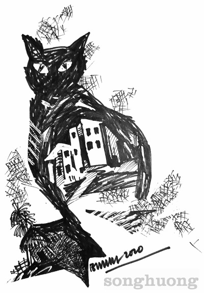 Con mèo đen