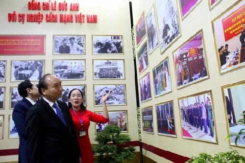 """Triển lãm """" Đồng chí Lê Đức Anh với sự nghiệp cách mạng Việt Nam""""."""