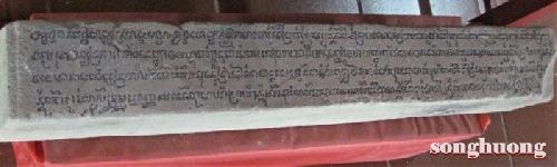 Văn khắc Champa tại làng Vân Thê