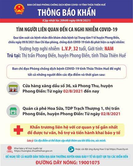 Thừa Thiên Huế, ghi nhận ca nhiễm covid-19 trong cộng đồng