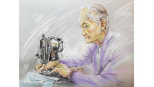"""""""Nghĩa đồng bào"""" trong tranh Lê Sa Long"""