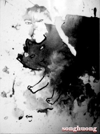 Bức tranh con mèo