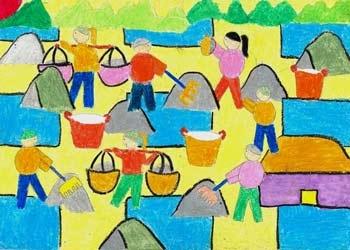 202.605 tranh tham dự cuộc thi Ý tưởng Trẻ thơ 2011